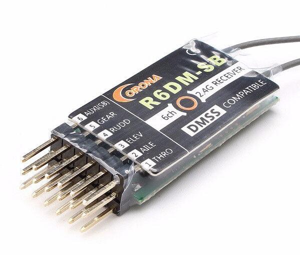 CGoldna 2.4ghz r6dm-sb 6ch dmss kompatible receiver x 3 - versandkostenfrei