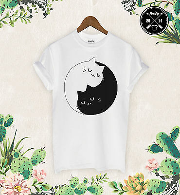 Kitten Kittens T Shirt Meow I Love Cats Crazy Cat Lady Sweet Yin Yang Unicorn
