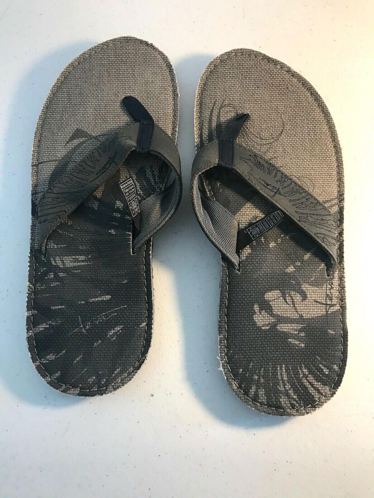 Teva Mush S/N 4021 Mens Flip Flop Thong Sandal Grey Foam Summer Shoes Size 11