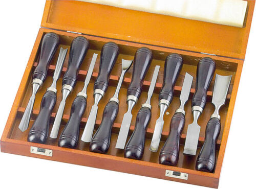 Schnitzmesser Set  Bildhauerbeitel Drechselbeitel Bildhauer Messer 12 tlg