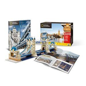 National-Geographic-Tower-Bridge-Rompecabezas-3D-Modelo-folleto-PL