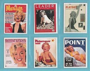 SPORTING-PROFILES-SET-OF-L15-FILM-STAR-CARDS-MARILYN-MONROE-2006