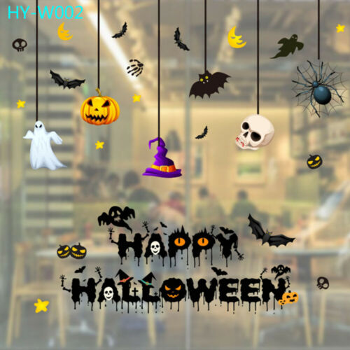 Halloween Window Glass Sticker PVC Wall Decal Party Shop Scary Decor 35*50cm
