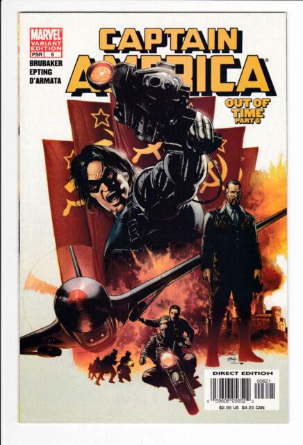 CAPTAIN AMERICA 6 VARIANT VF/NM 2005 Brubaker Marvel Avengers 1st Winter Soldier