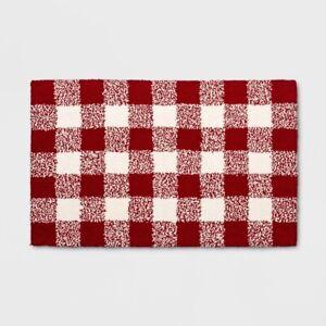 Threshold Buffalo Check Design Red White Kitchen Rug 18 X 30 A291 490670500656 Ebay