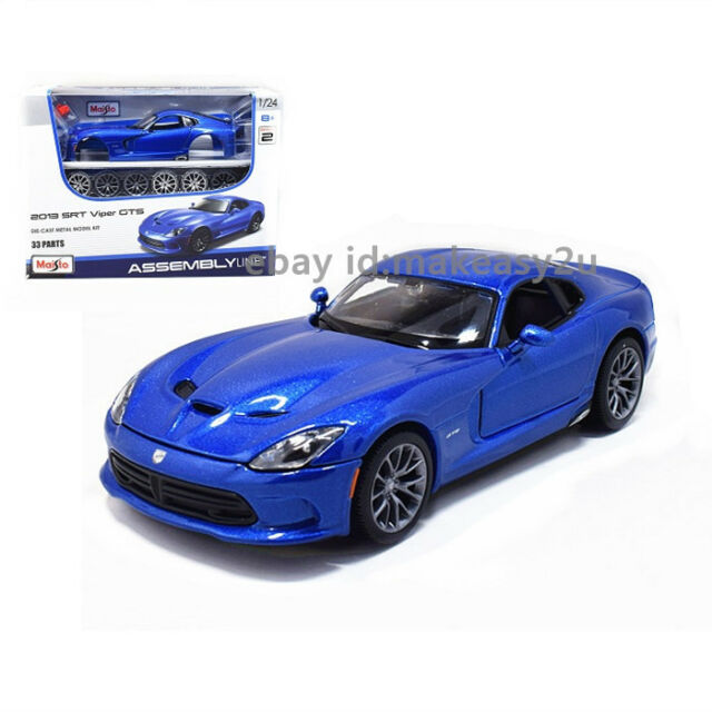 Maisto 1:24 2013 Dodge SRT Viper GTS Metal Assembly Line KIT Model Car Toy New