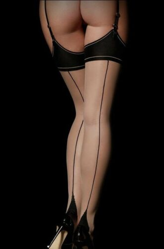 ❤️Honey Birdette Classic Black Stockings Size L❤️