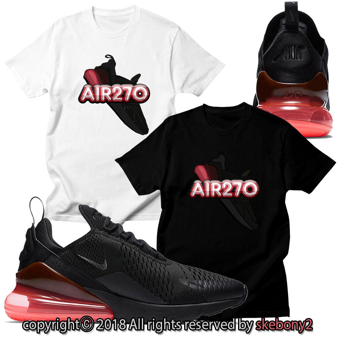 NUEVA CAMISETA PERSONALIZADA haciendo juego Nike Air Max 270 BLACK / HOT PUNCH AM270 1-7-14