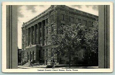 Paris Texas~Lamar County Court House~Side View~Art Deco ...