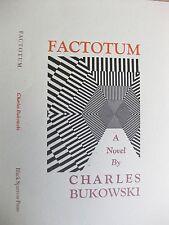 FACTOTUM -Charles Bukowski-Black Sparrow Press Broadside Dust-jacket lithograph