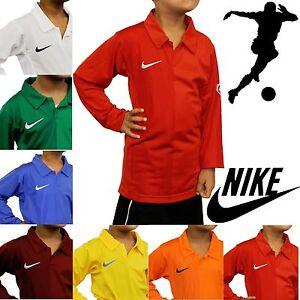 Nike-Kids-Long-Sleeve-Football-Jerseys-Rugby-Tops-Boys-Sport-T-Shirts-Polo-Shirt