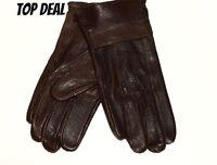 Braun Herren Lederhandschuhe,100% Leder ,gefüttert.Top Angebot
