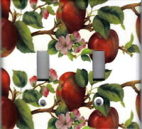 Apples And Apple Blossoms Home Wall Decor Double Light Switch Plate