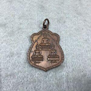 Coin 3 Buddha , Chiang Saen , Sukhothai , Au thong Thai Amulet Pendant Talisman