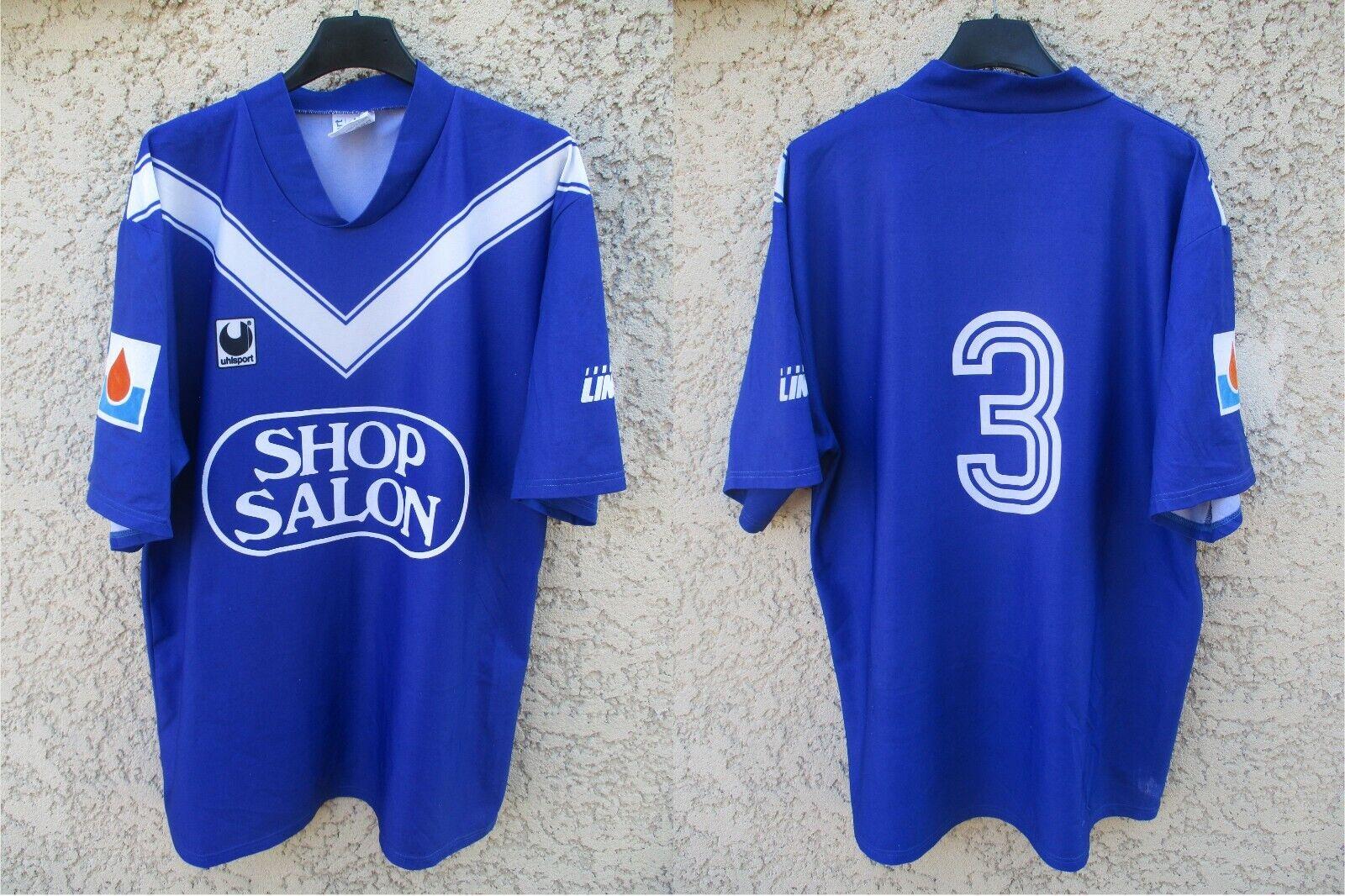 Maillot GIRONDINS de BORDEAUX n°3 shirt vintage negozio SALON Division 2 trikot L