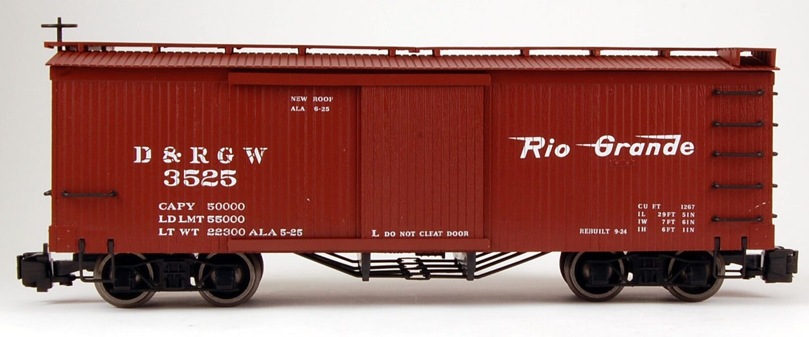Bachmann G Scale (1 22.5) Train Box Car D D D & RGW 93301 7cd7de