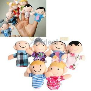 6Pcs-Family-Finger-Puppets-Cloth-Doll-Baby-Educational-Hand-Toy-Story-Kid-Hot