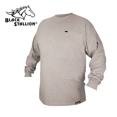 Revco Flame Resistant FR Cotton Long Sleeve Gray T-shirt Size 3XL