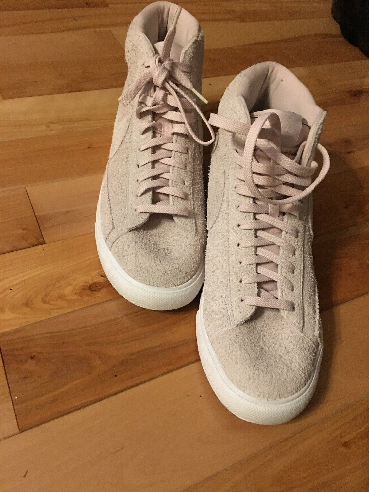Rare Vintage Nike Hightop Suede Rare Color Dusty Rose Size 12 Hard To Find