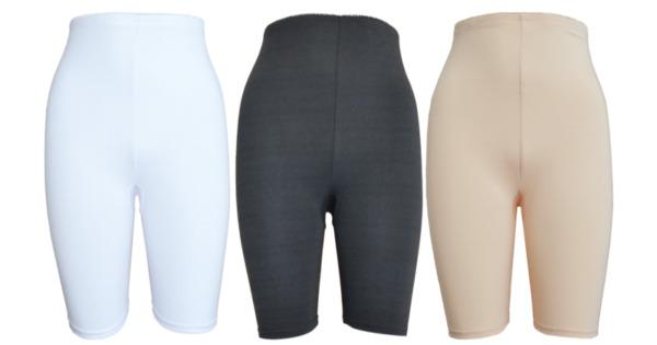 3 Damen Unterhose mit langem Bein Schlüpfer Panty Größe 36 bis 50 Baumwolle 95 %