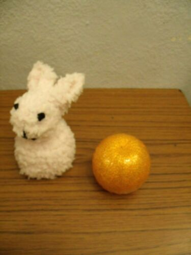 Easter Rabbit Chocolate Orange Cover knitting pattern AND WOOL