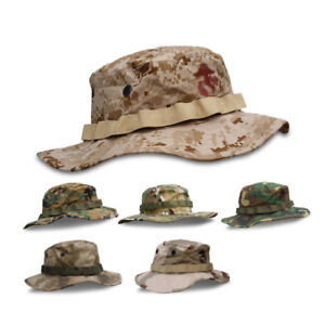 ed3effcc25a60 Military Combat Camo Army Boonie Bush Jungle Sun Hat Outdoor Hiking ...