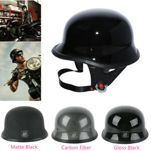M-L-XL-Motor-DOT-German-Half-Face-Helmet-Fit-For-Harley-Chopper-Cruiser-Biker