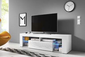 Incroyable ... Hugo 2 Meuble TV Moderne 160 Cm Blanc  Belles Idees