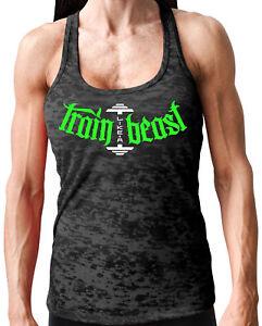 4103cf7227bb8 NEW Women s Monsta Clothing TRAIN LIKE A BEAST Gym Tank Top (Soft ...
