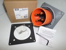 New In Box Hubbell Hbl4100b12w 100 Amp Reverse Service Inlet Receptacle 125250v
