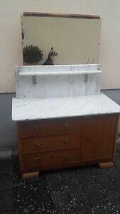 Kommode Waschtisch mit Marmorplatte und Spiegel  eBay