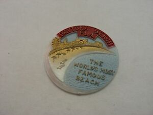 Rare Vintage Souvenir Blank: DAYTONA BEACH FL WORLD'S MOST FAMOUS BEACH