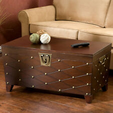 Item 3 Upton Home Nailhead Espresso Brown Living Room Tail Coffee Sofa Table Trunk