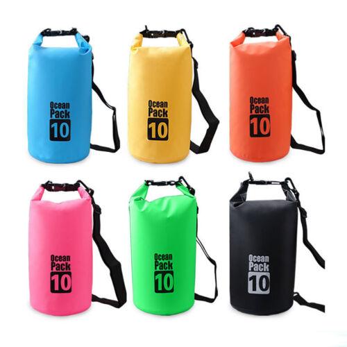 ND/_ HK Outdoor Backpack Kayak Ocean Pack Waterproof Dry Bag Sack Multi Color