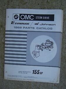 Details about 1968 OMC Stern Drive 155 HP Parts Catalog Evinrude Johnson  MORE IN OUR STORE S