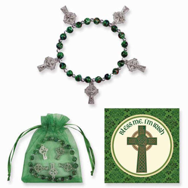 Celtic Cross Bracelet with Irish card and bag NEW SKU VC632