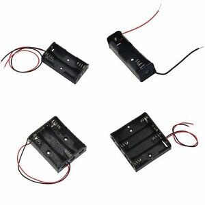 AA-Size-Power-Battery-Storage-Case-Box-Holder-Leads-With-1-2-3-4-Slots-Tide