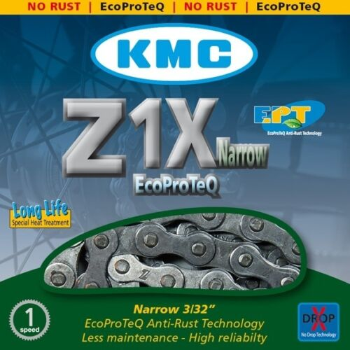 """Kette KMC Z1 1//2/"""" x 3//32/"""" Nabenschaltung Single Speed 112 Glieder"""