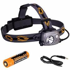 Fenix Flashlights Hp25r LED Headlamp With Battery Iron Gray