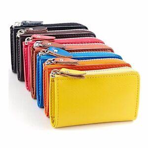 Image Is Loading Men Women Zipper Leather Key Bag Keychain Wallet