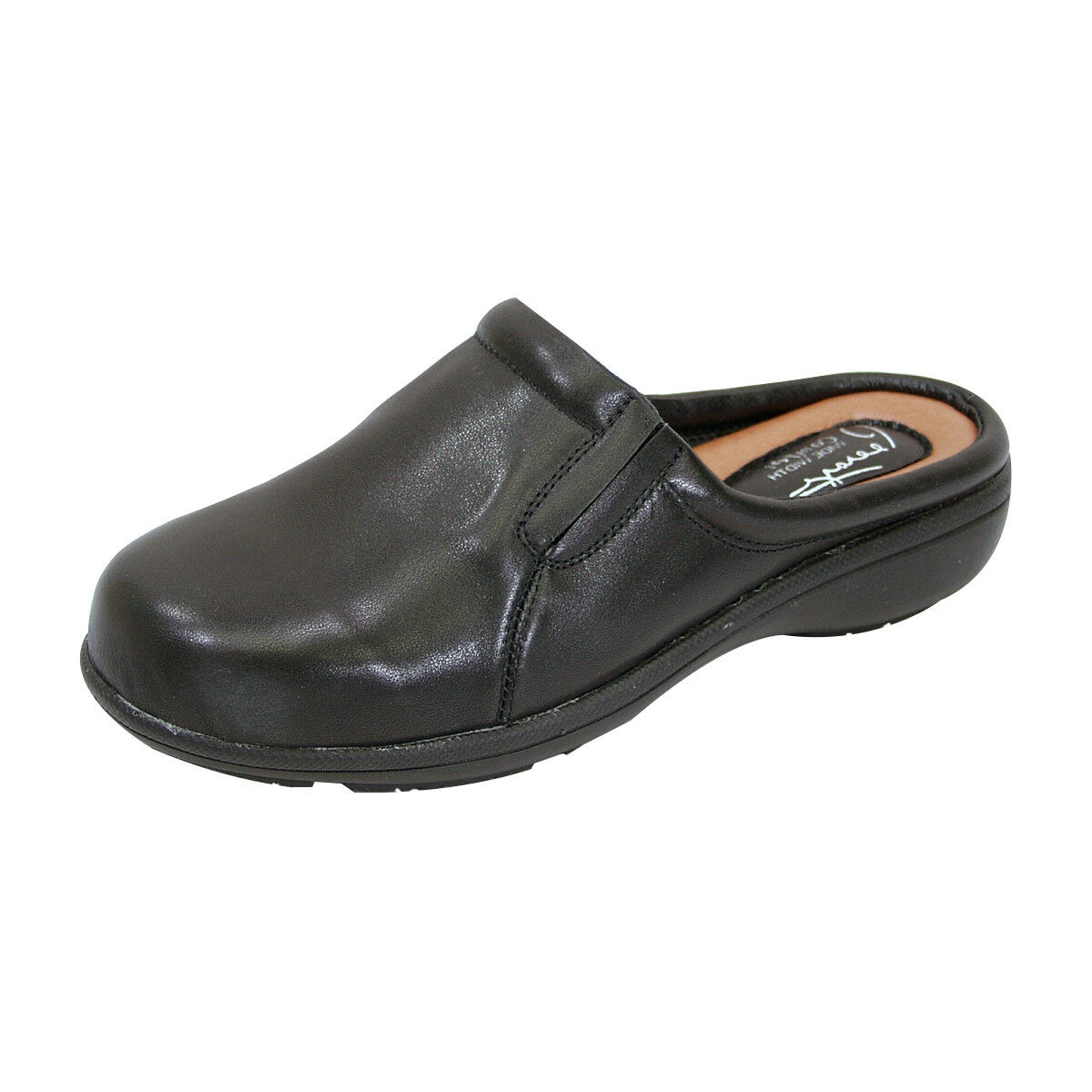 PEERAGE Mary Women Wide Width Comfort Leather Clog for All Occasion