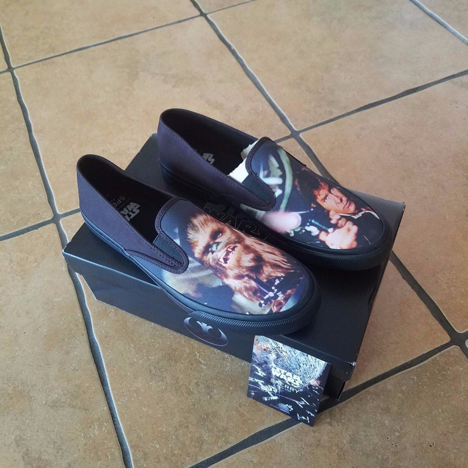 Brand New Mens Star Wars Sperrys Size 10.5 CHEWIE HANS SOLO - NEW in Box