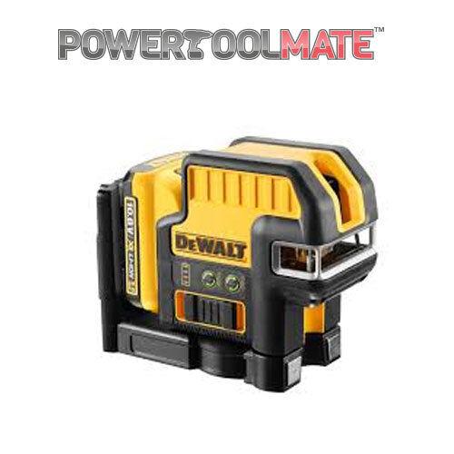 Dewalt DCE0825D1G 10.8V 5 Spot Cross Line Grün Laser with 1 x 2.0Ah Battery