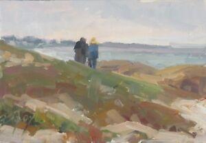 ORIGINAL-oil-landscape-plein-air-painting-5x7-034-Seaside-view-Becky-Joy