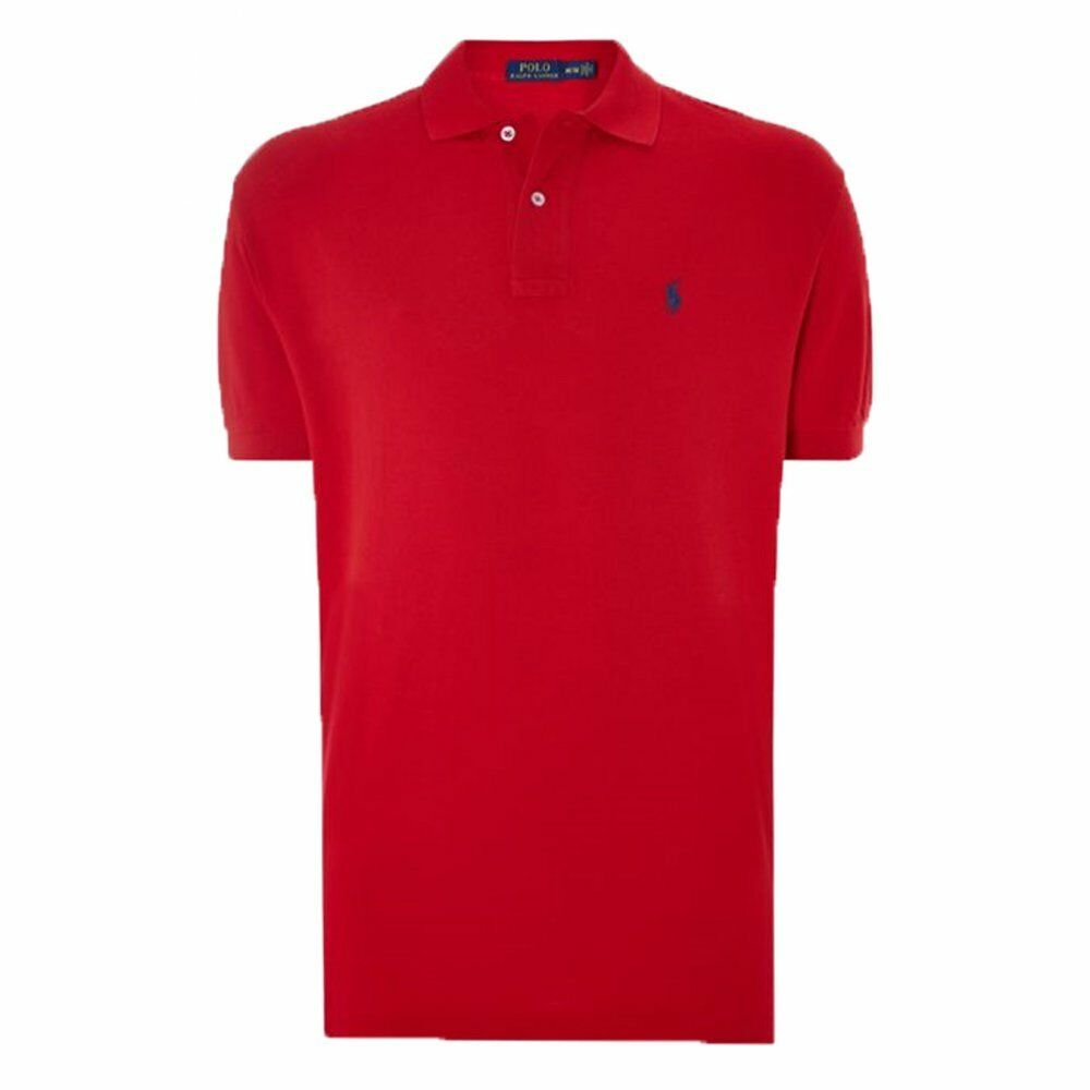 Polo Ralph Lauren Polo Shirt Red Mens Classic Fit 100% Genuine Brand New