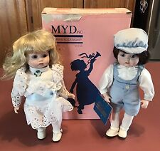 Marian Yu Design MYD Bisque Dolls Brother & Sister ~1988~ **IN BOX WITH TAGS**