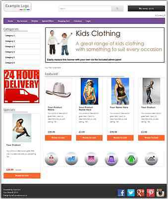 eCommerce Website Design Shopping Cart Site - Sell Online -