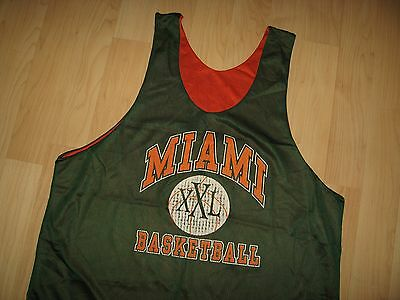 Hurricanes Basketball Tank Top - University Of Miami Florida 1980's Mesh XLarge