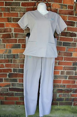 Med Couture Women's Scrub Set Gray Size XS ,Nursing,medical - EZ Flex