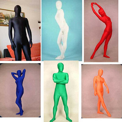 Full Body Lycra Spandex Skin Suit Catsuit Halloween Party Zentai Costumes S-XXL